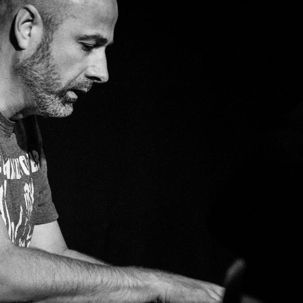 Simon Robinson plays piano